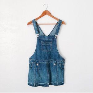 Vintage Overall Denim Mini Dress